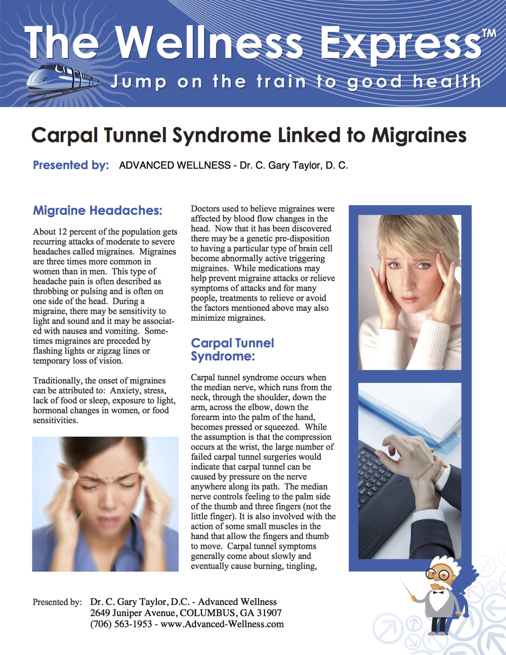 Weekly Newsletter: Carpal Tunnel Syndrome Linked to Migraines