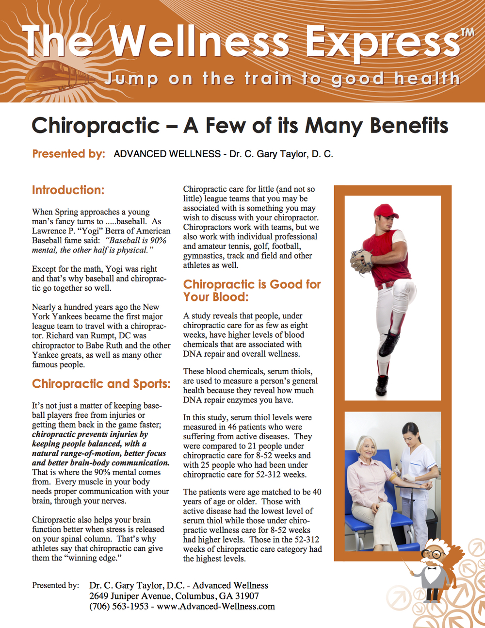 Weekly Newsletter: Chiropractic – A Few of Its Many Benefits