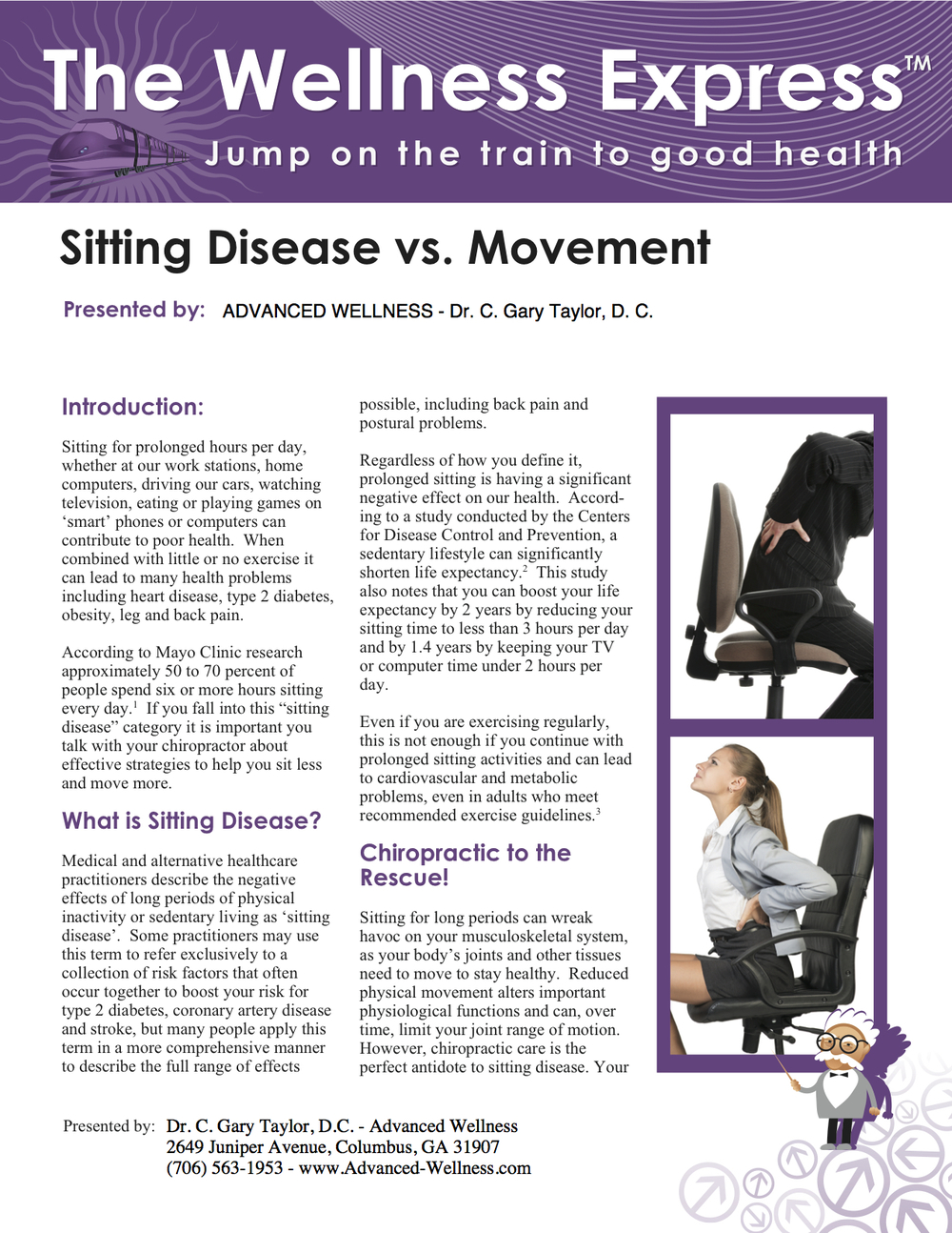 Weekly Newsletter: Sitting Disease vs. Movement