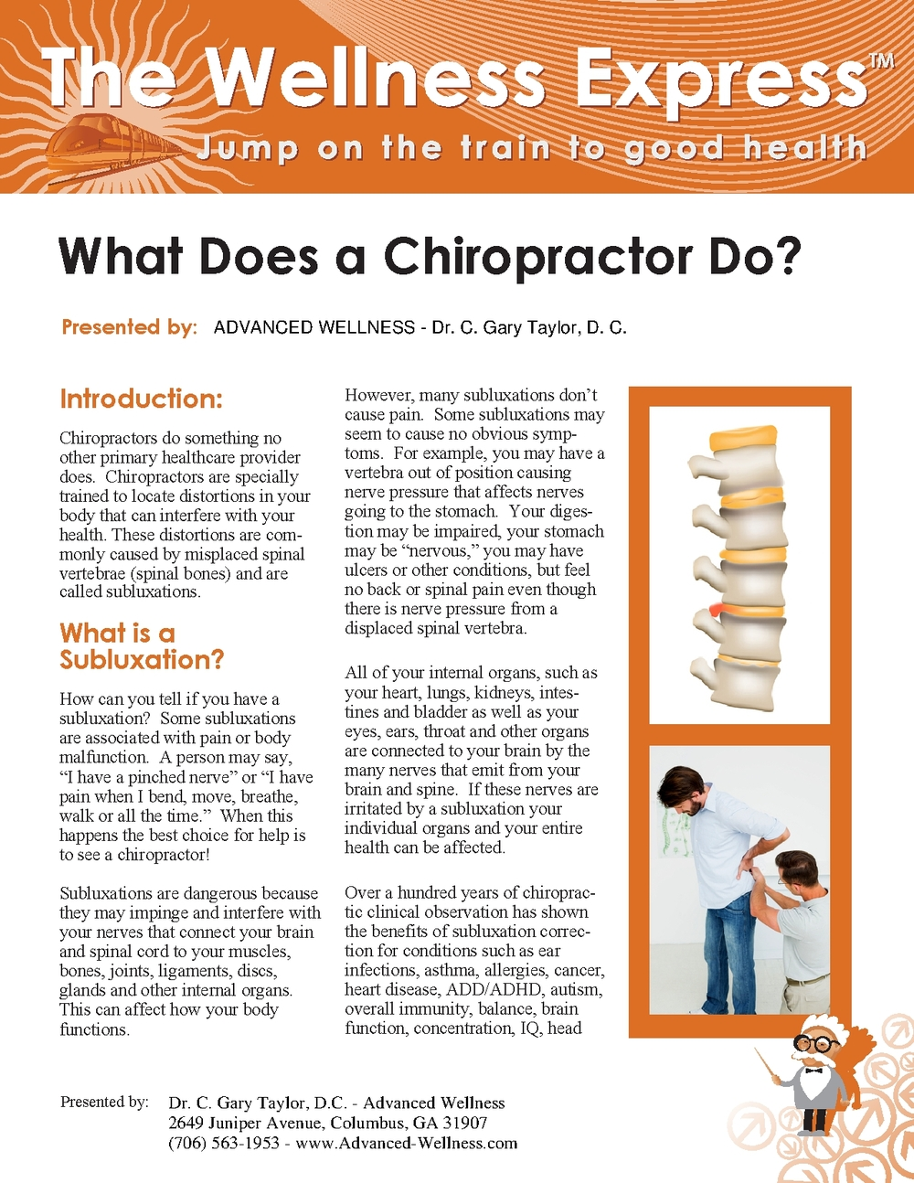 Weekly Newsletter: What Does a Chiropractor Do?
