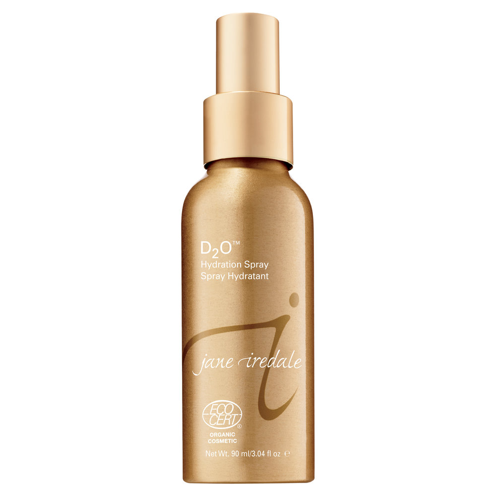 D20 Hydration - Jane IredaleD20 Hydration Spray is a multi- purpose facial spray, which can be used on its own or before makeup to deliver immediate moisture or used to set minerals for a long lasting flawless finish.RRP $49