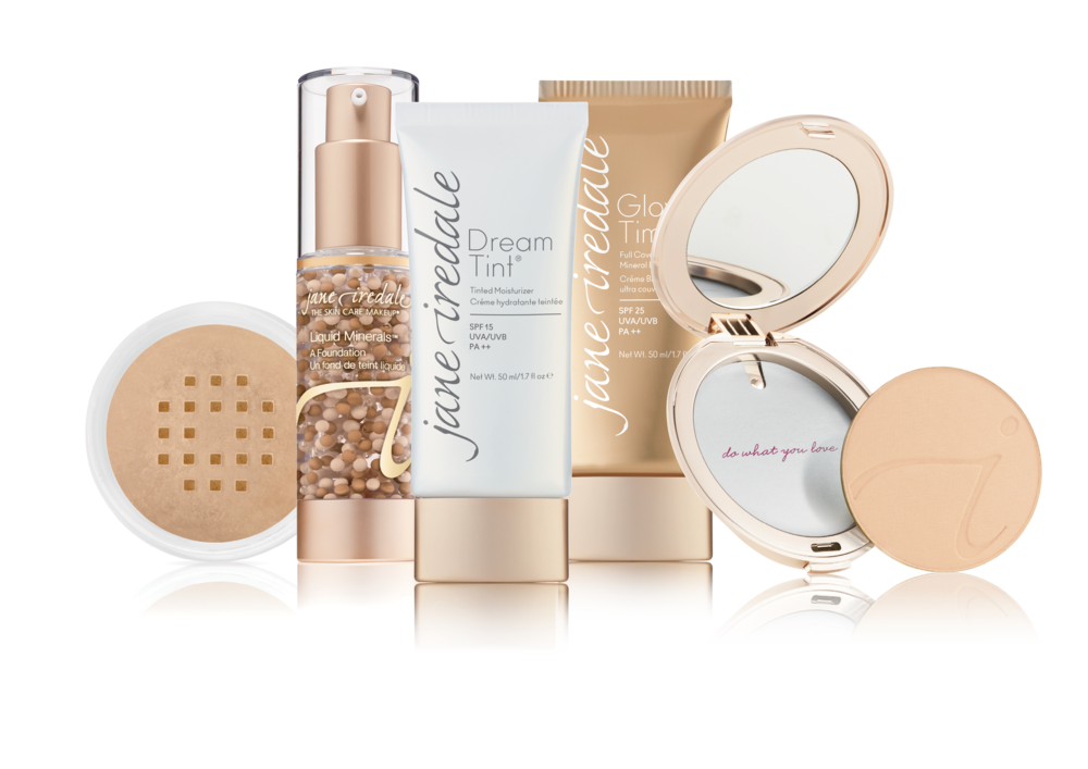 Protect - Jane IredaleFOUR-IN-ONE Our multi-tasking products, Amazing Base Loose Mineral Powder, PurePressed Base Mineral Foundation, Glow Time Full Coverage Mineral BB Cream and Dream Tint Tinted Moisturiser provide four important functions in one: foundation, concealer, sunscreen and active skin care benefits.