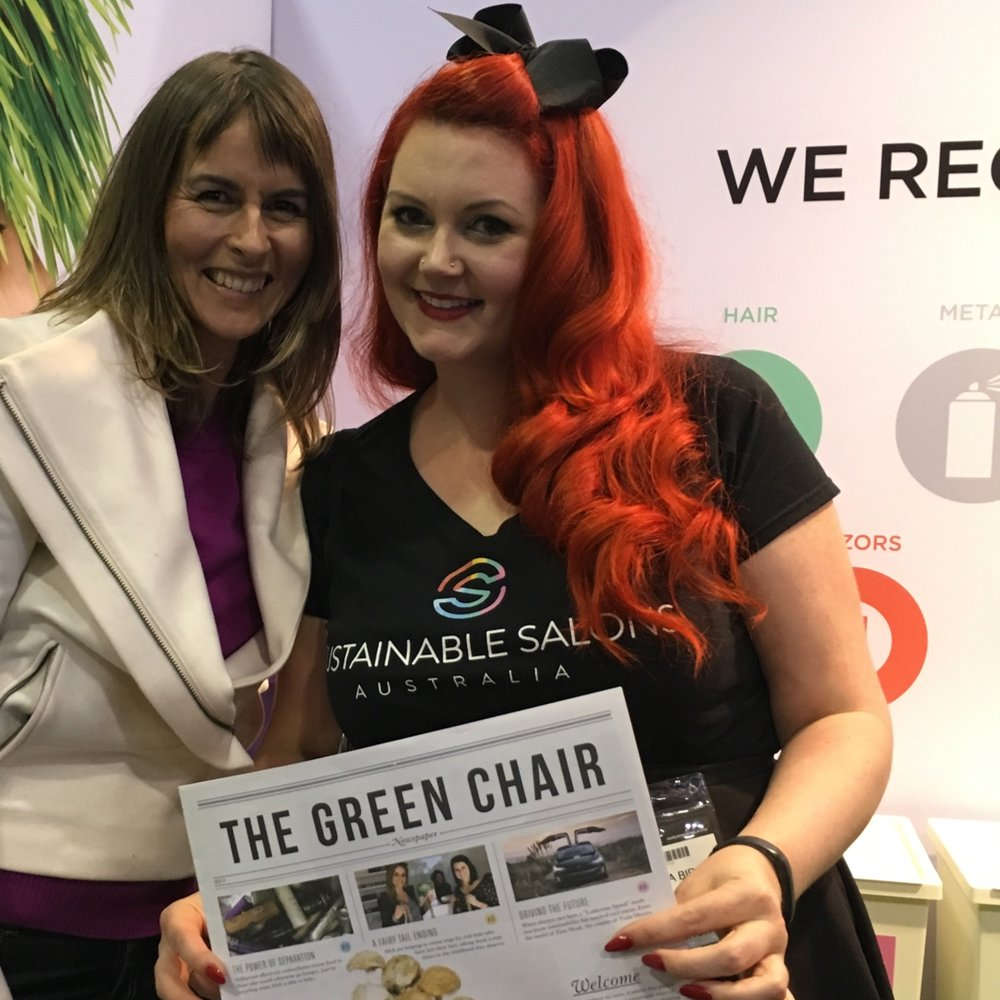 I'm so excited about this company. Sustainable salons. They help you recycle everything.