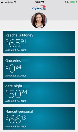 CapitalOne mobile app