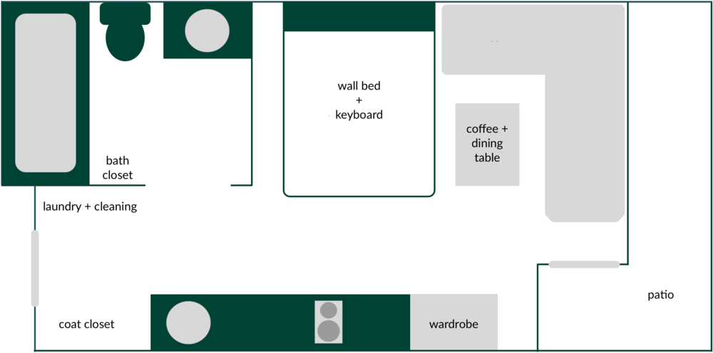 Floor plan: 240 square feet