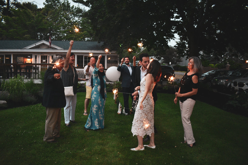 Then snuck out to the lawn for sparklers