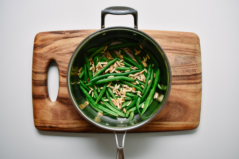Pre-trimmed green beans