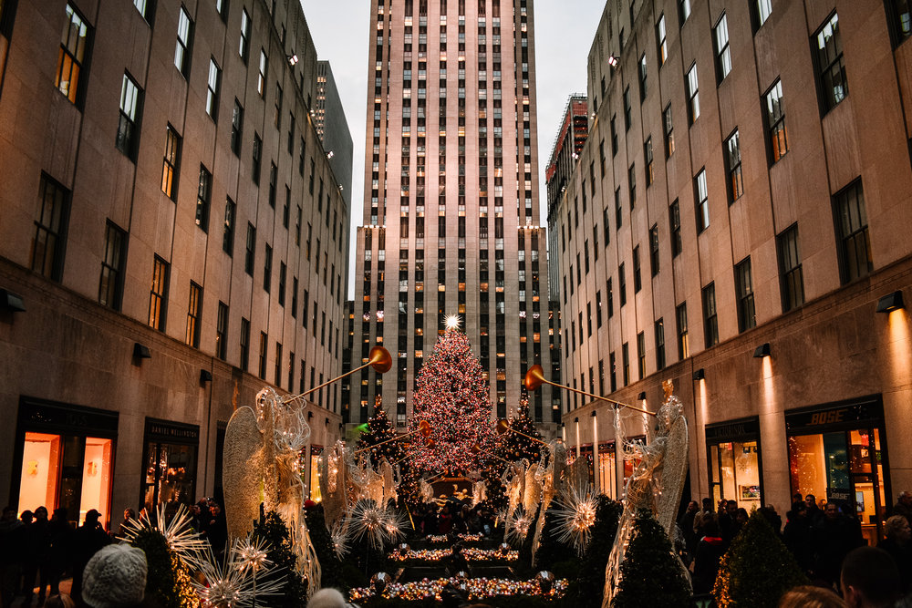 Rockefeller Center New York City Christmas lights