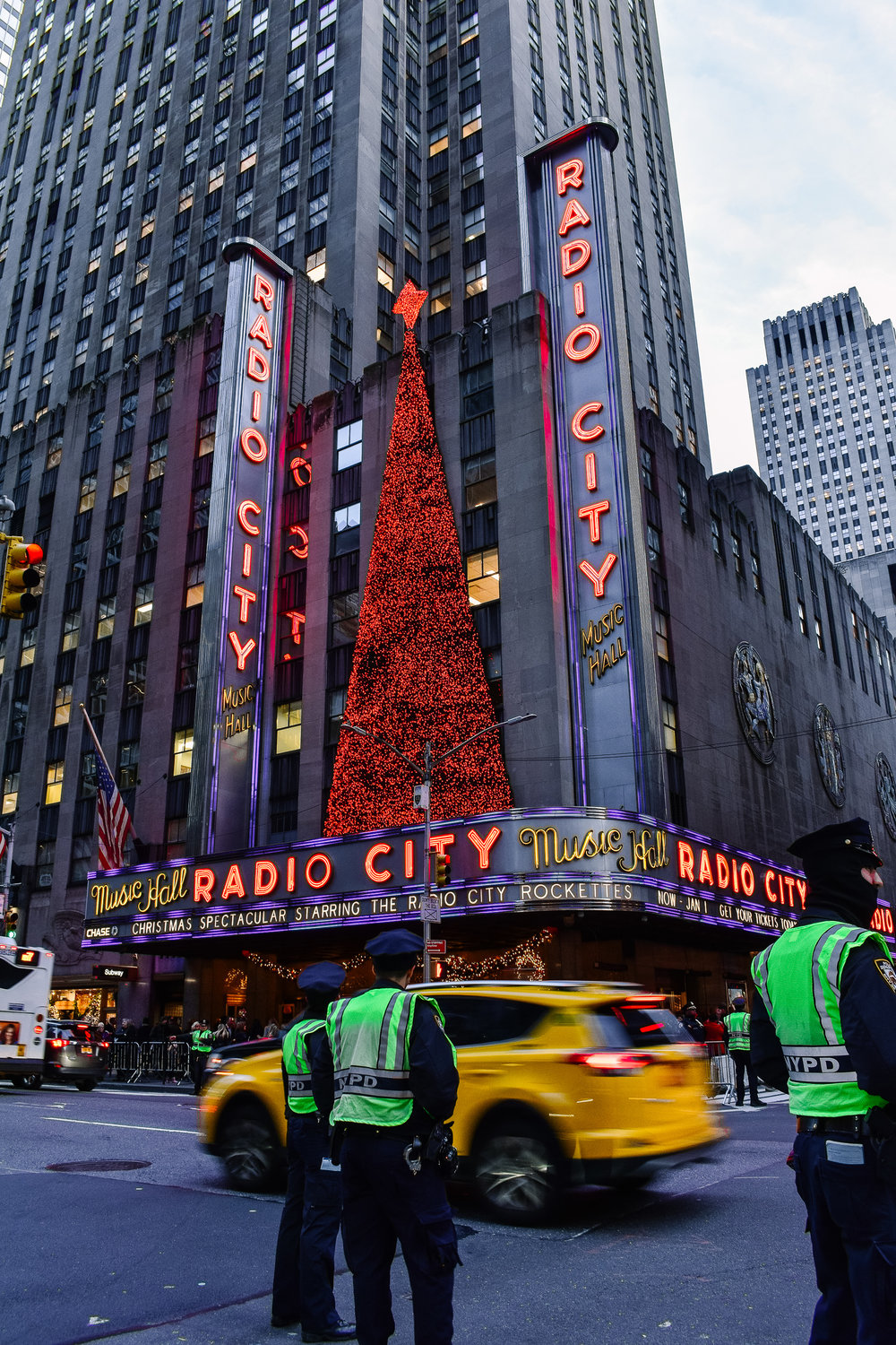 Radio City New York City Christmas lights
