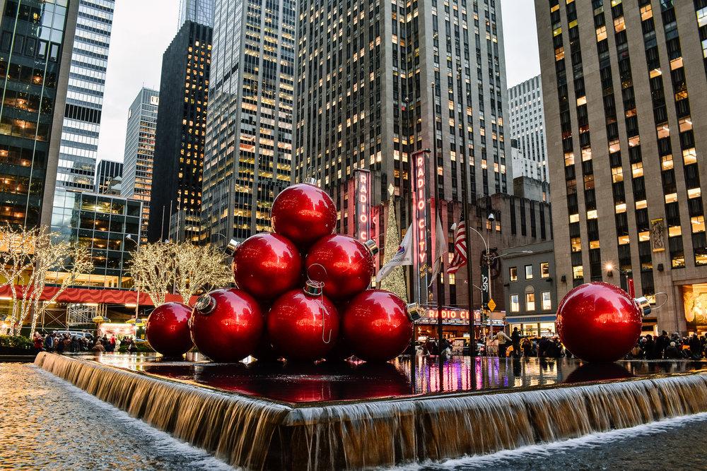 Radio City New York City Christmas lights
