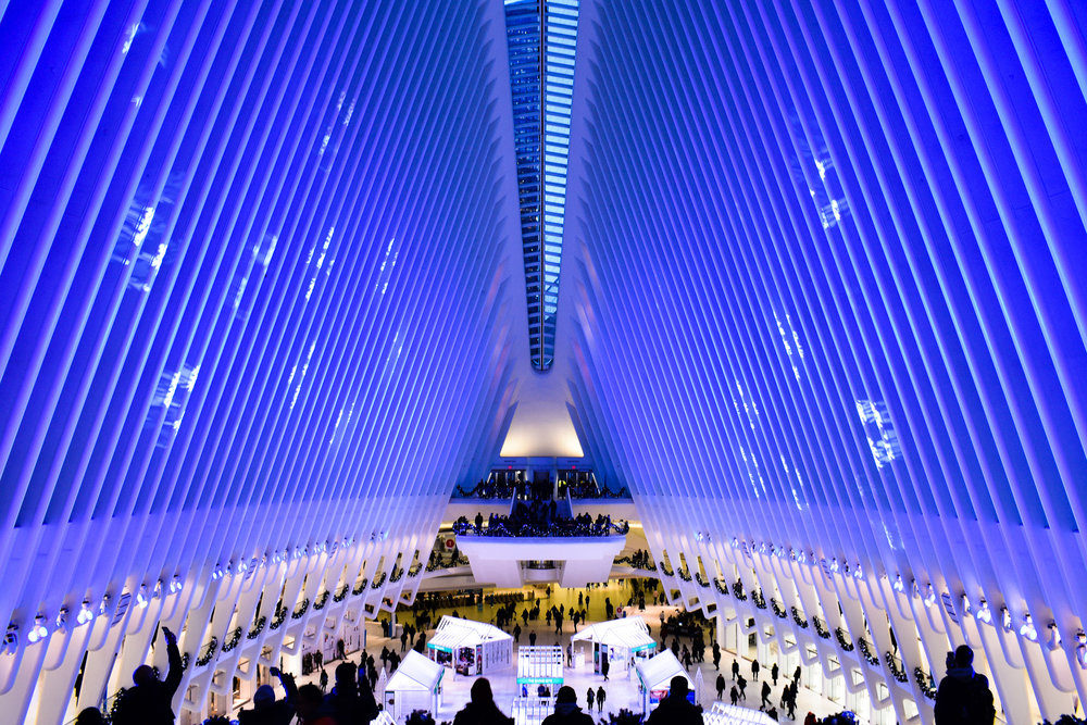 Oculus New York City Christmas lights