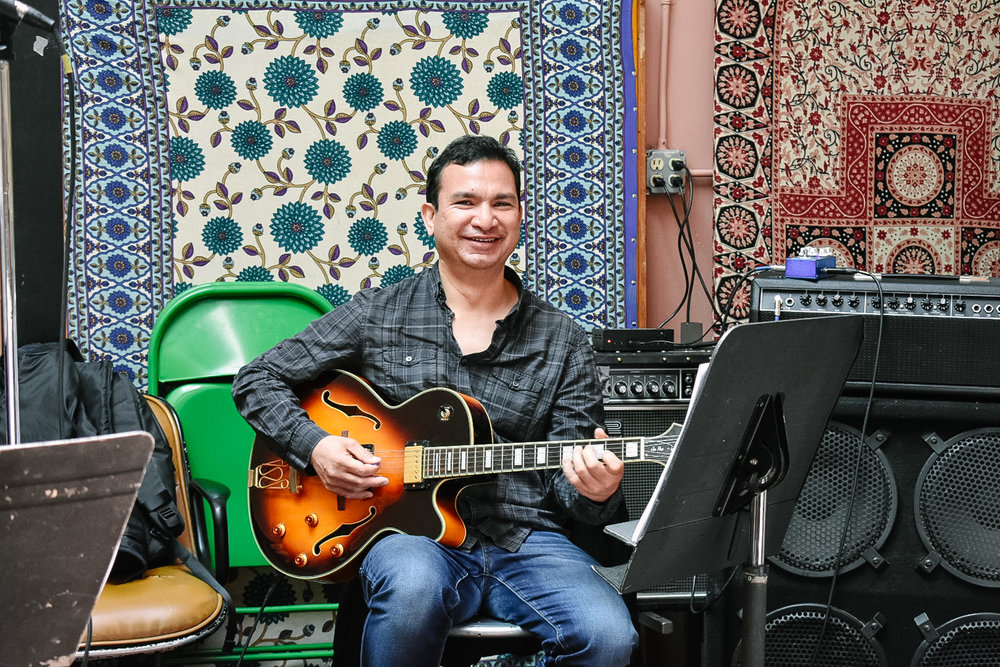 Art Khu at Lennon Rehearsal Studios in San Francisco