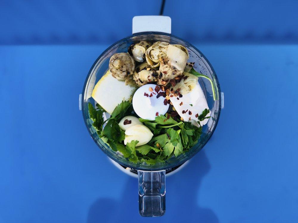 Lemon artichoke dip -