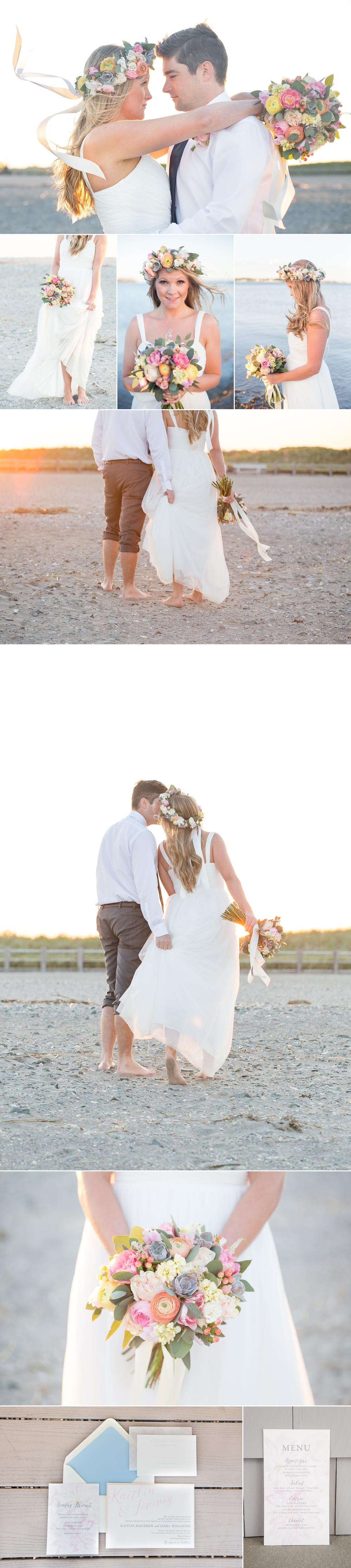 Sunset Beach Wedding Inspiration on Glamour & Grace | Shaina Lee Photography | CT, NYC + Destination Wedding + Engagement Photographer