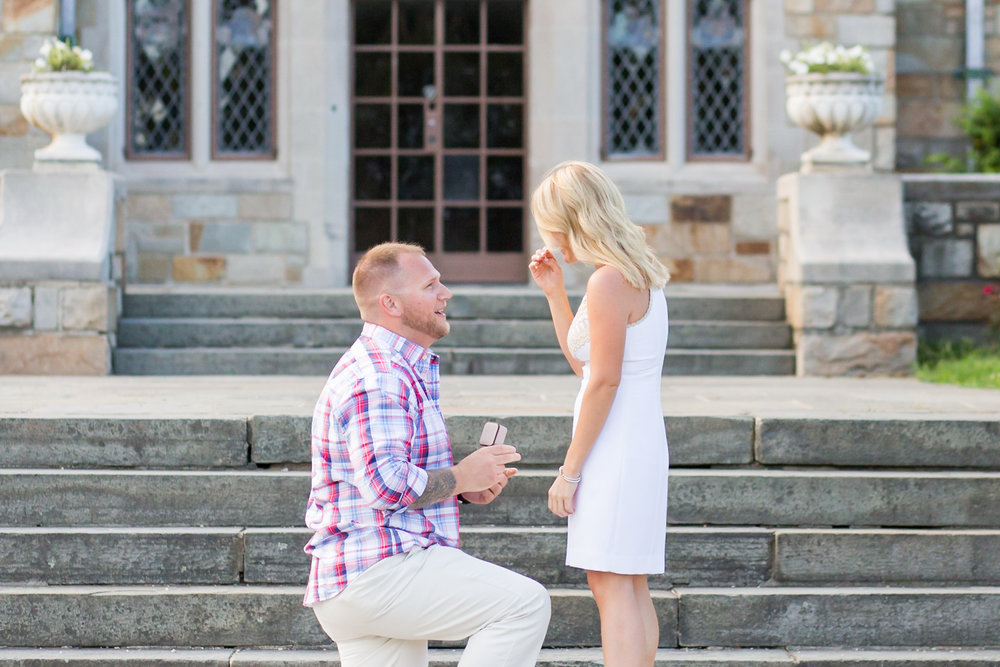 Wedding Proposal at Gallaher Mansion at Cranbury Park | CT, NYC + New England Luxury Wedding + Engagement Photographer | Shaina Lee Photography | Reverie Gallery