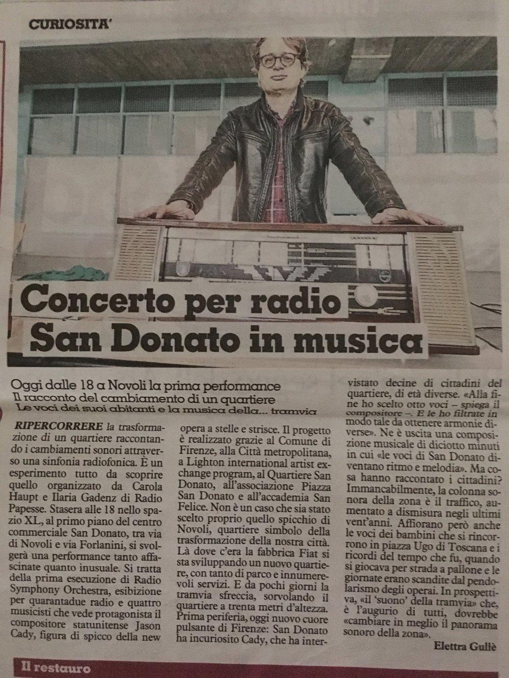 La Nazzione, February 22, 2019