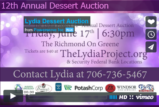 The Fabric Beautique® was honored to be asked to be part of The Lydia Project's 12 Annual Dessert Auction, which was held on June 17, 2016 in Augusta, GA. The Fabric Beautique™ donated our popular Purple Prayer & Devotional Pillow for auction. Click the picture to the right to learn more about this awesome nonprofit organization and their wonderful cause and how you can donate. http://www.thelydiaproject.org.
