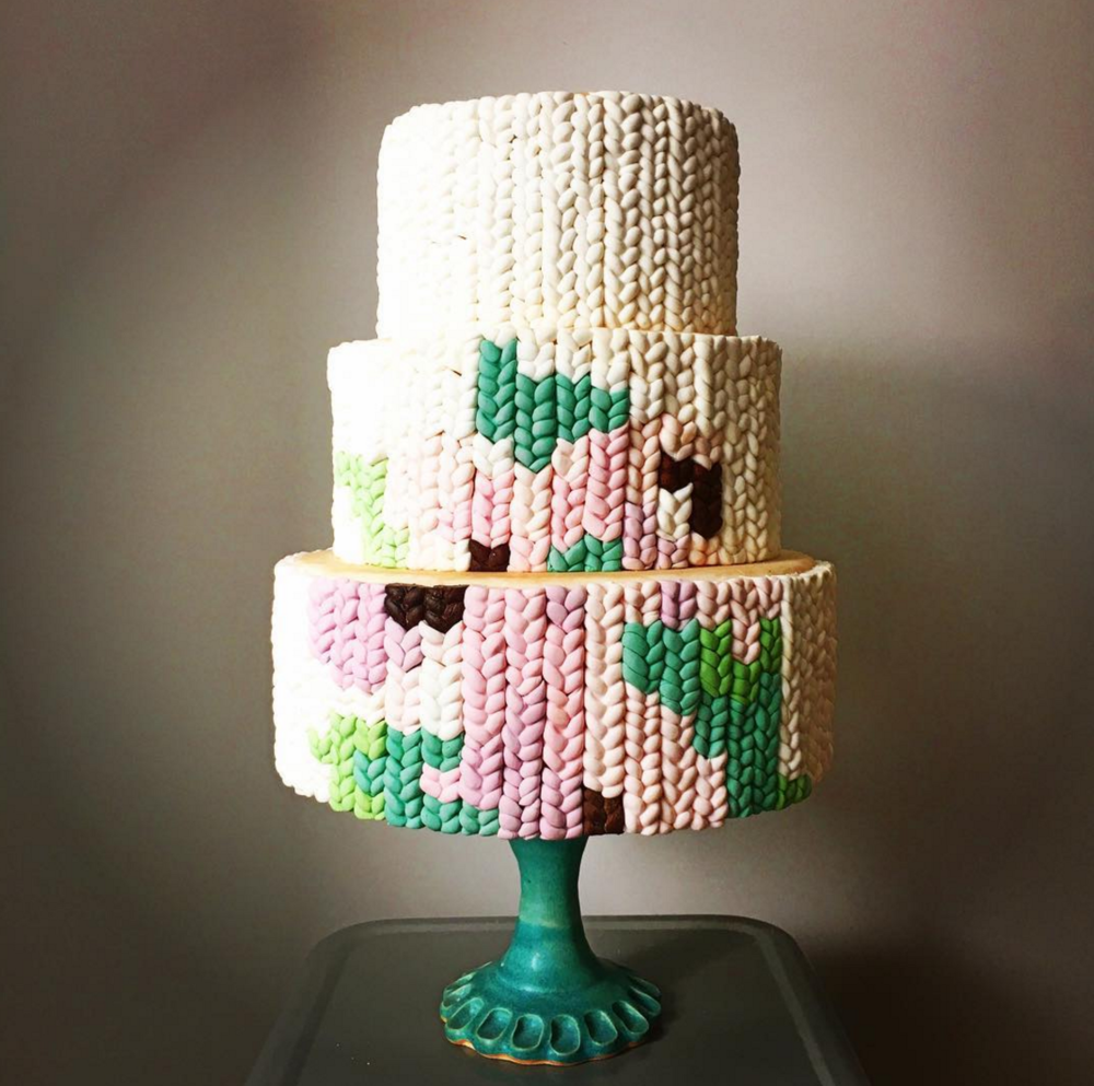 A Floral Knot Cake