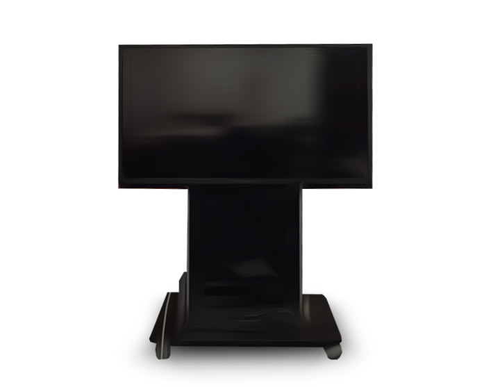 60 inch HDTV on stands