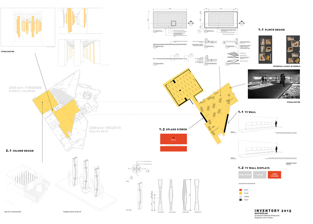 Master plan made to give a overview update of the exhibition as a whole