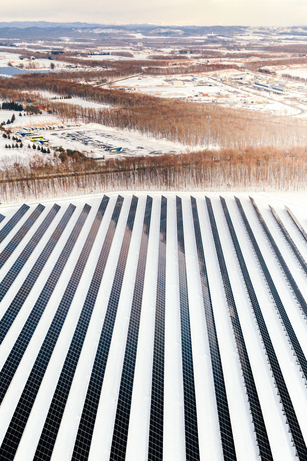 Solar Panels in Snow: Hokaiddo