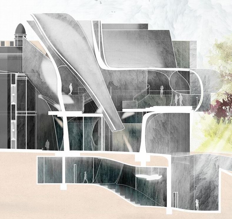 A Museum of Relevance- Section_James Feng Design_Sydney Freelance Designer