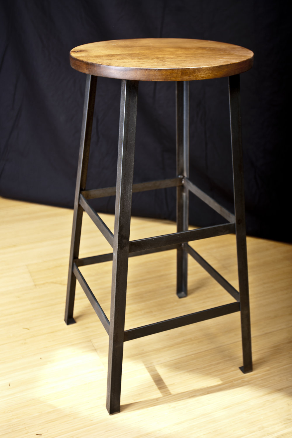Seattle Woodwork Metal and Wood Stool
