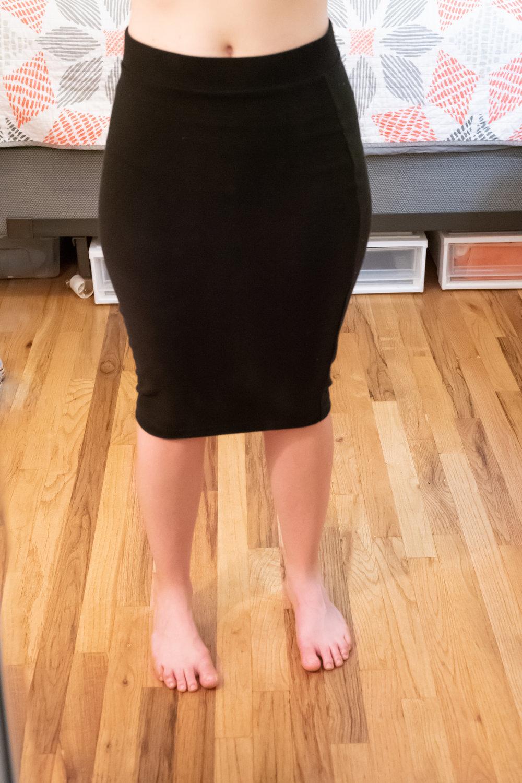 Universal Standard Petite Danube Heavyweight Jersey Skirt - Size 2XS (6-8) - Front Side