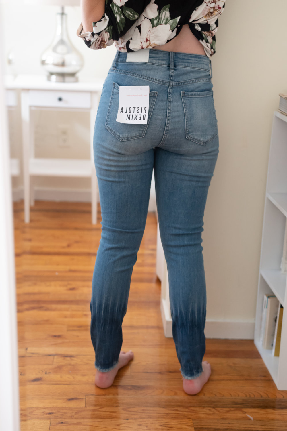 Pistola High-Waisted Button Front Jeans - Size 28  - Back View