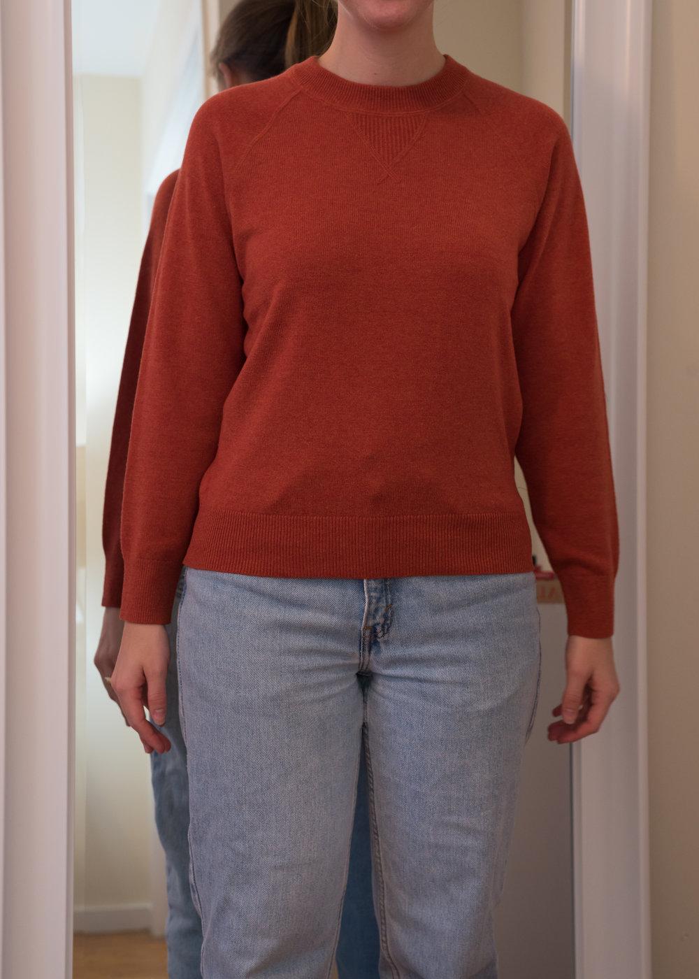 Everlane Cashmere Shrunken Sweatshirt - Front View