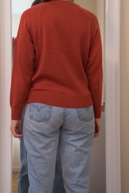 Everlane Cashmere Shrunken Sweatshirt - Back View