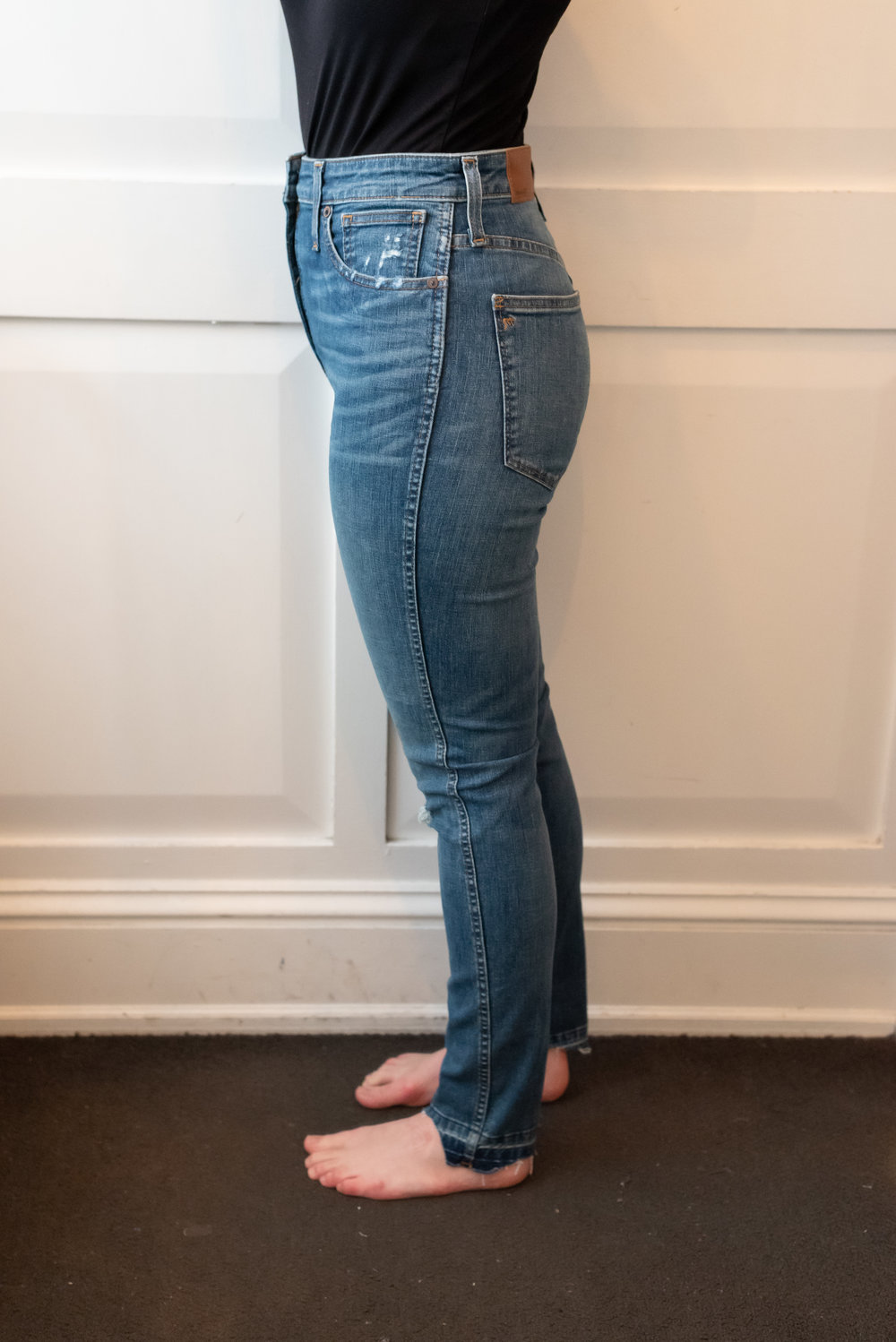 Madewell Curvy High Rise Skinny Jeans - Size 28 - Side View