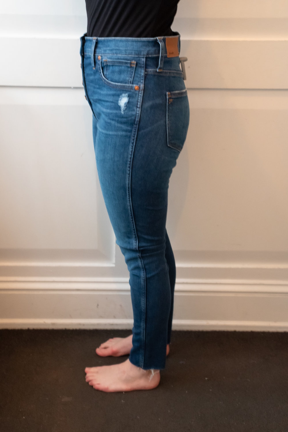 """Madewell 10"""" High-Rise Skinny Jeans - Size 28 - Side View"""