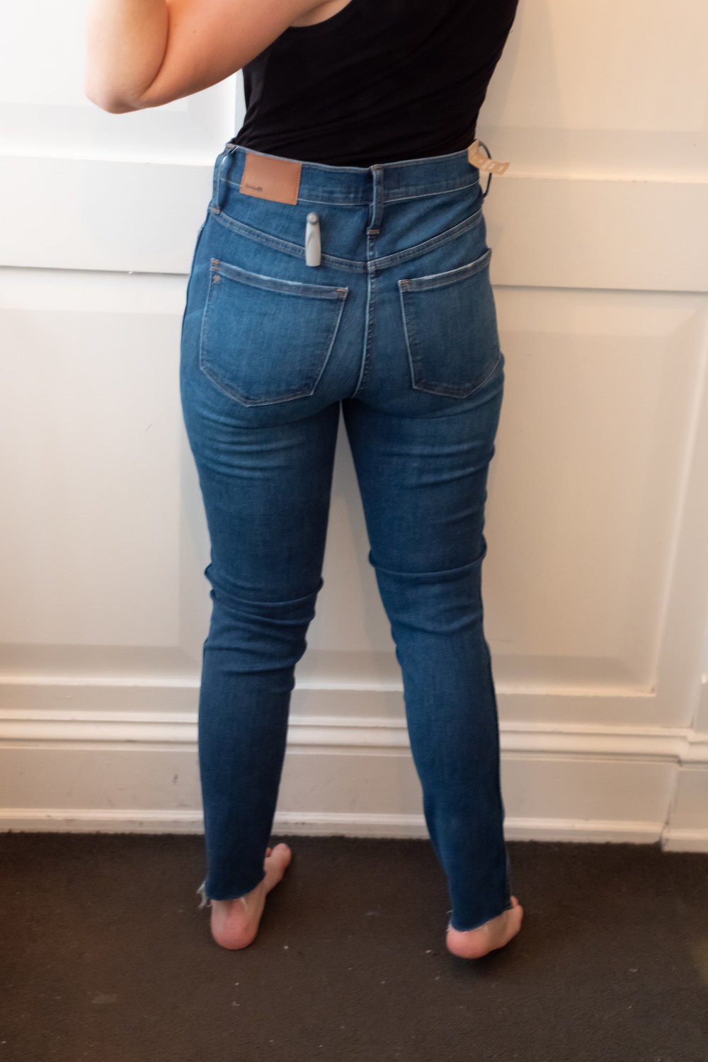 """Madewell 10"""" High-Rise Skinny Jeans - Size 28 - Back View"""