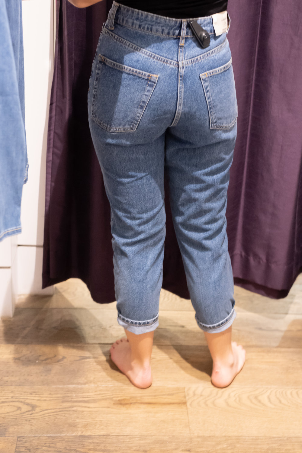 Topshop Petite Mom Jeans - Size 28 Petite - Back View