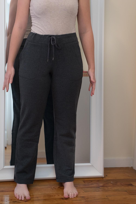 L.L. Bean Ultrasoft Sweats Straight Leg Petite - Size S Petite - Front View