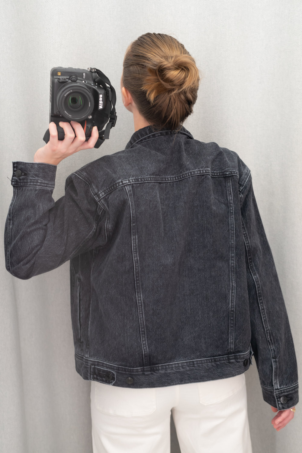 Everlane The Denim Jacket - Size S - Back View