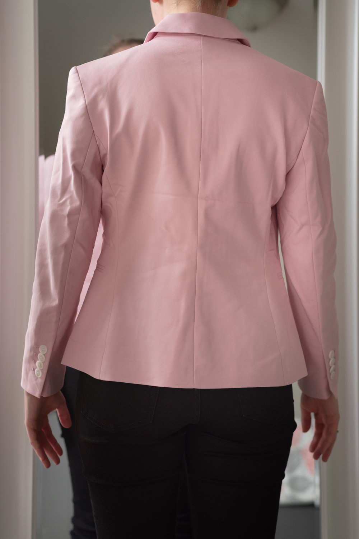 Express Petite Notch Collar One Button Blazer - Size 6 Petite