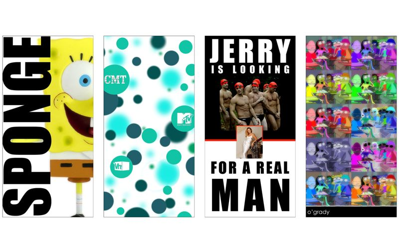 MTV Networks Gallery Poster Design Artwork