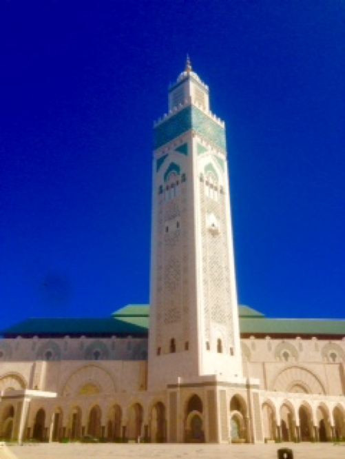 Hassan II Mosque in Casablanca. It is the largest mosque in Morocco.