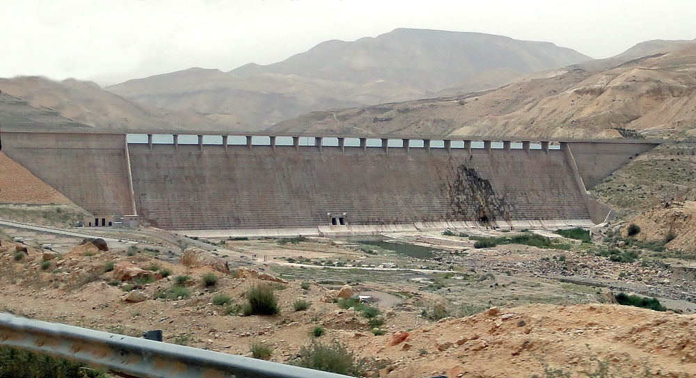 The Al Mujib Dam in Joradn