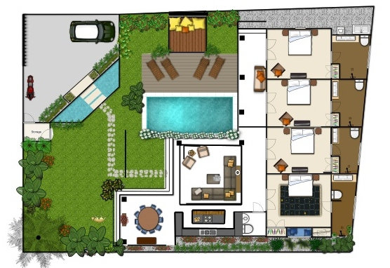 Floor plans holiday villa rentals bali for Best villa house designs