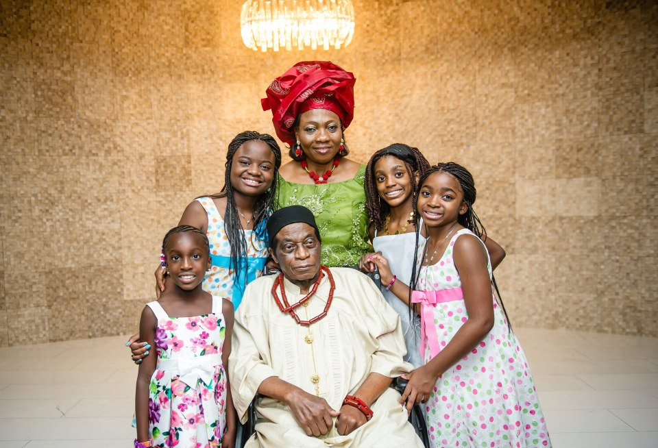 My father and step-mother, and their grand-daughters, at my sister's wedding 2012