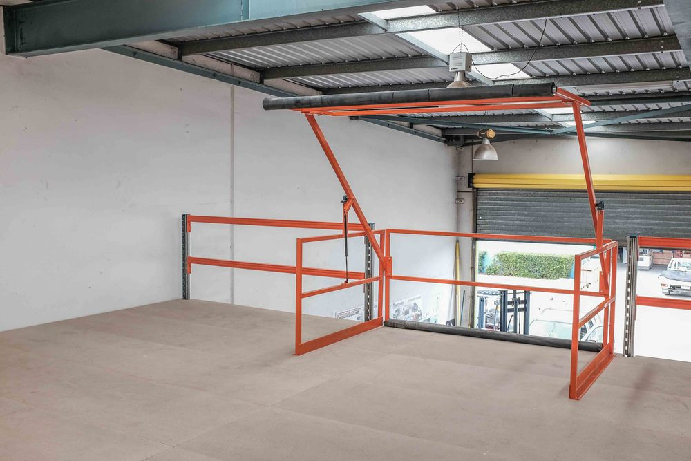 Mezzanine Floor Loading : Mezzanine pallet gate modular storage systems