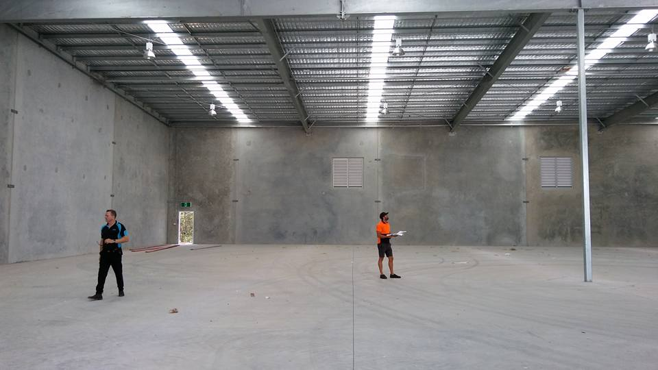 Modular Storage System Employee Inspects site