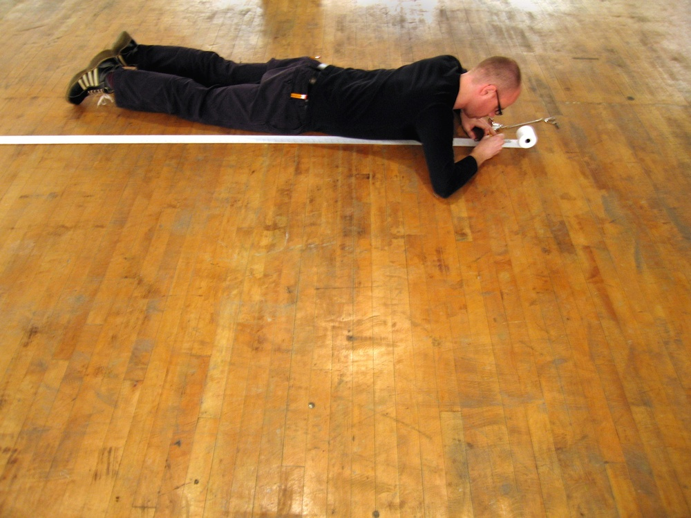 Slow Measured Crawl I , 2005  Performance Art