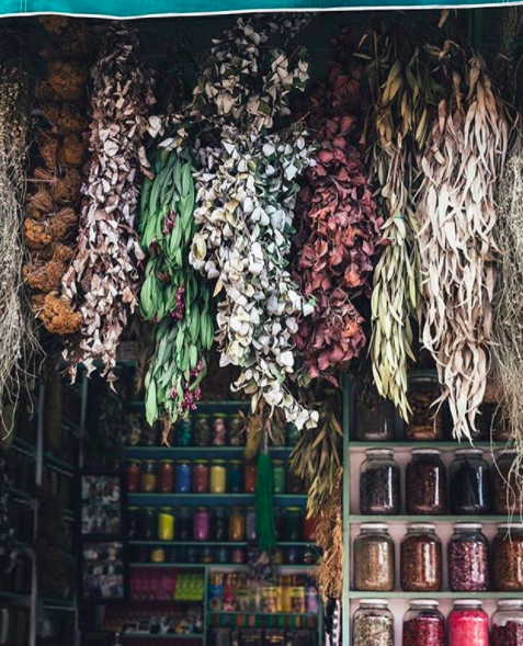 "Thank you @ditsen for capturing this beautiful ""library"" of spices which inspired this post"