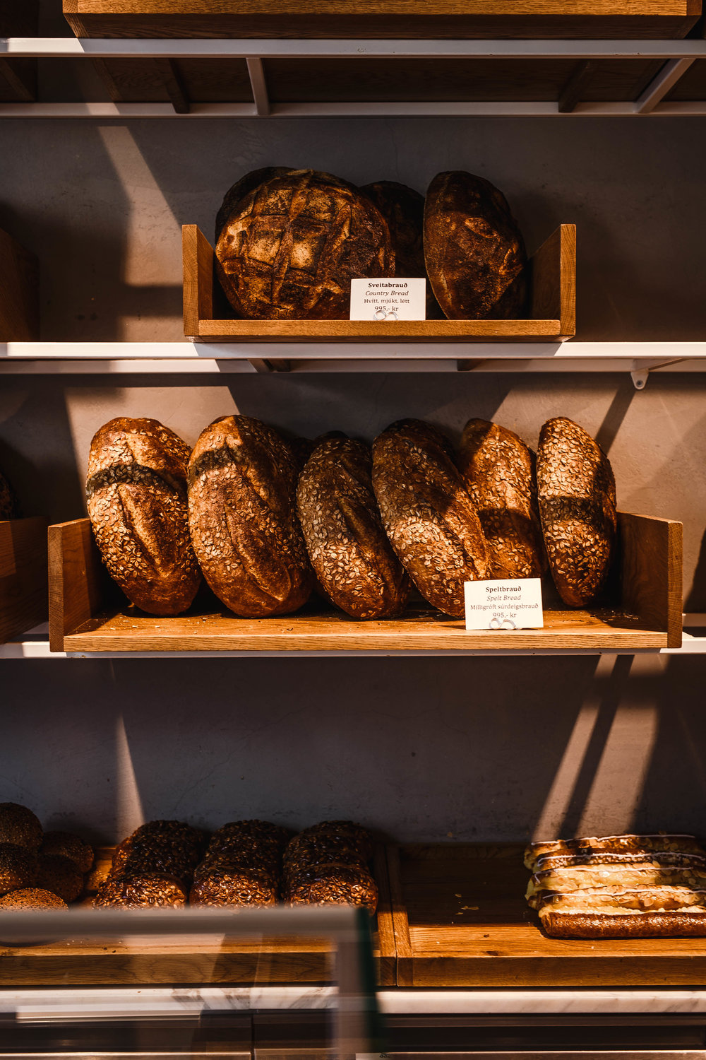 Photo by The Curated Feast of  Sandholt  bread selection