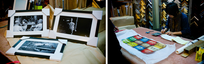 some of our images getting framed