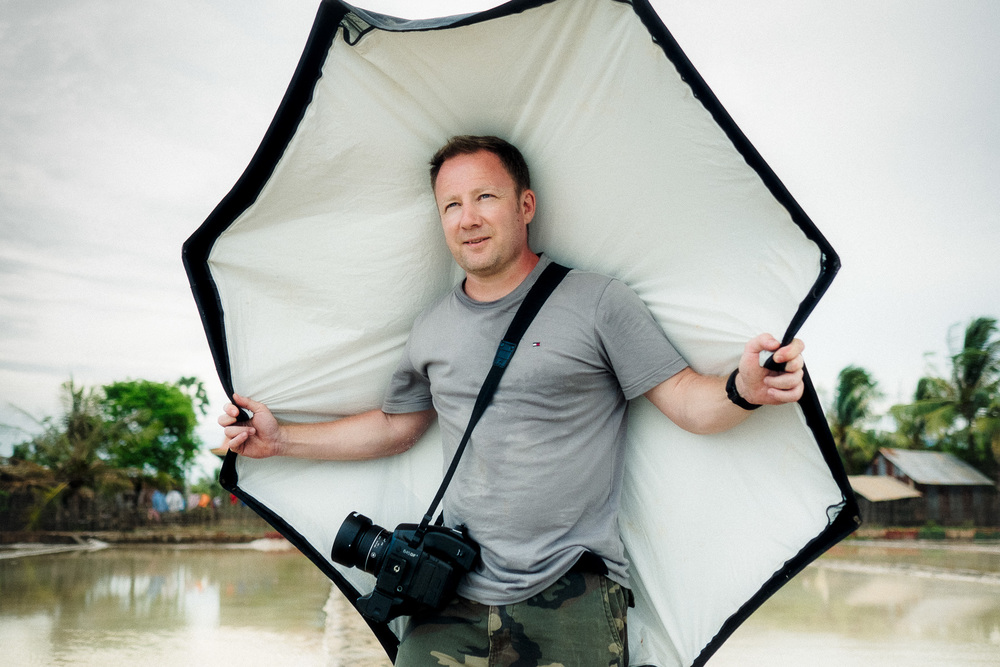 Gary on location, Cambodia.